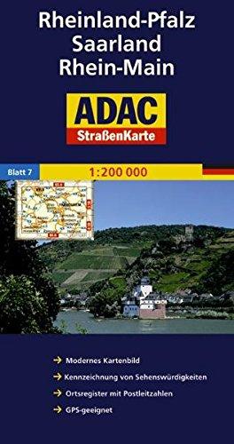 Rheinland-Pfalz, Saarland, Rhein-Main: 1:200000 (ADAC AutoKarten Deutschland 1:200 000) Landkarte – Folded Map, 1. März 2007 MAIRDUMONT 3826419073 Stadtpläne Atlas
