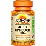 Sundown Naturals Super Alpha Lipoic Acid 600 mg, 60 Capsules