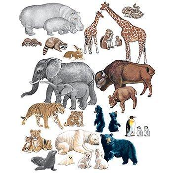 (Little Folk Visuals Wild Animals Precut Flannel/Felt Board Figures, 22 Pieces Set)