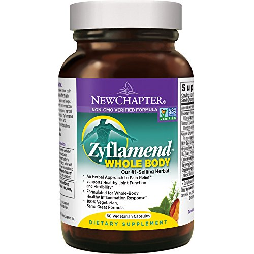 (New Chapter Joint Supplement + Herbal Pain Relief - Zyflamend Whole Body for Healthy Inflammation Response - 60 ct)