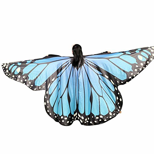 Butterfly Wings Toys Kids Baby Girl Belly Dancing Costume Unisex Children Butterfly Wings Dance Accessories No Sticks ICODOD(Sky Blue)