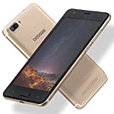 "Unlocked Cell Phones, DOOGEE X20 GSM Smartphone Unlocked Android 7.0 - 5.0"" HD IPS Display - 1GB RAM+16GB ROM - 5MP Dual Cameras - 3G Unlocked Phones - Gold"