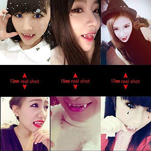 Keklle 3 Pairs Vampire False Teeth Fangs Dentures Cosplay Props Halloween Costume Props Party Favors Decoration