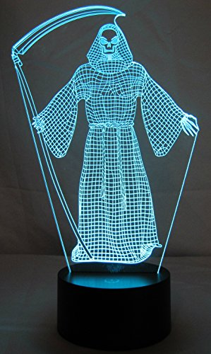 Grim Reaper Light is a Great Nightlight or an Excellent Halloween Light Decoration. These Make Beautiful Gifts for Mom, Amazing Desk Lamps. Start Enjoying Yours Today!