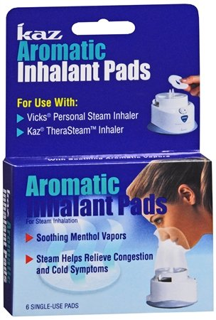 Kaz Aromatic Inhalant Pads, 6 Count