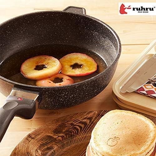ruhru(ルール) 焦げ付きにくいruhru(ルール)健康フライパン 10年保証付【正規品】[IH対応] 24cm×7.5cm