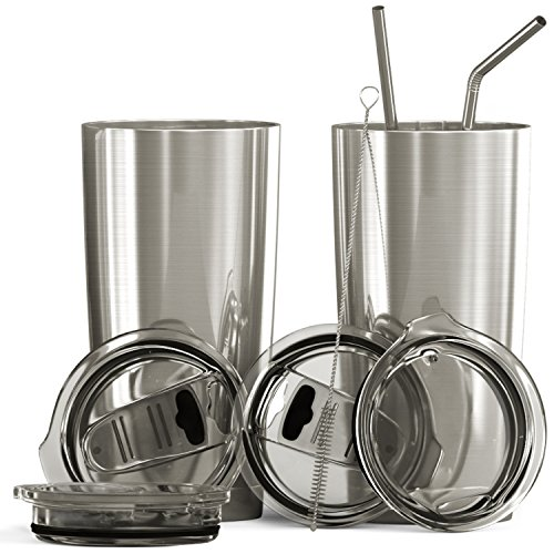 BluePeak 20 oz Double Wall Stainless Steel Vacuum