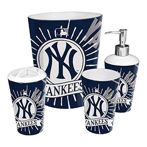 The Northwest Company New York Yankees MLB 4 Piece Bathroom Decorative Set (Scatter Series)