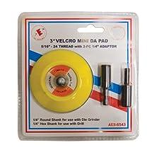"3"" Mini Velcro Pad Kit w/ Drill and Die Grinder Arbor"