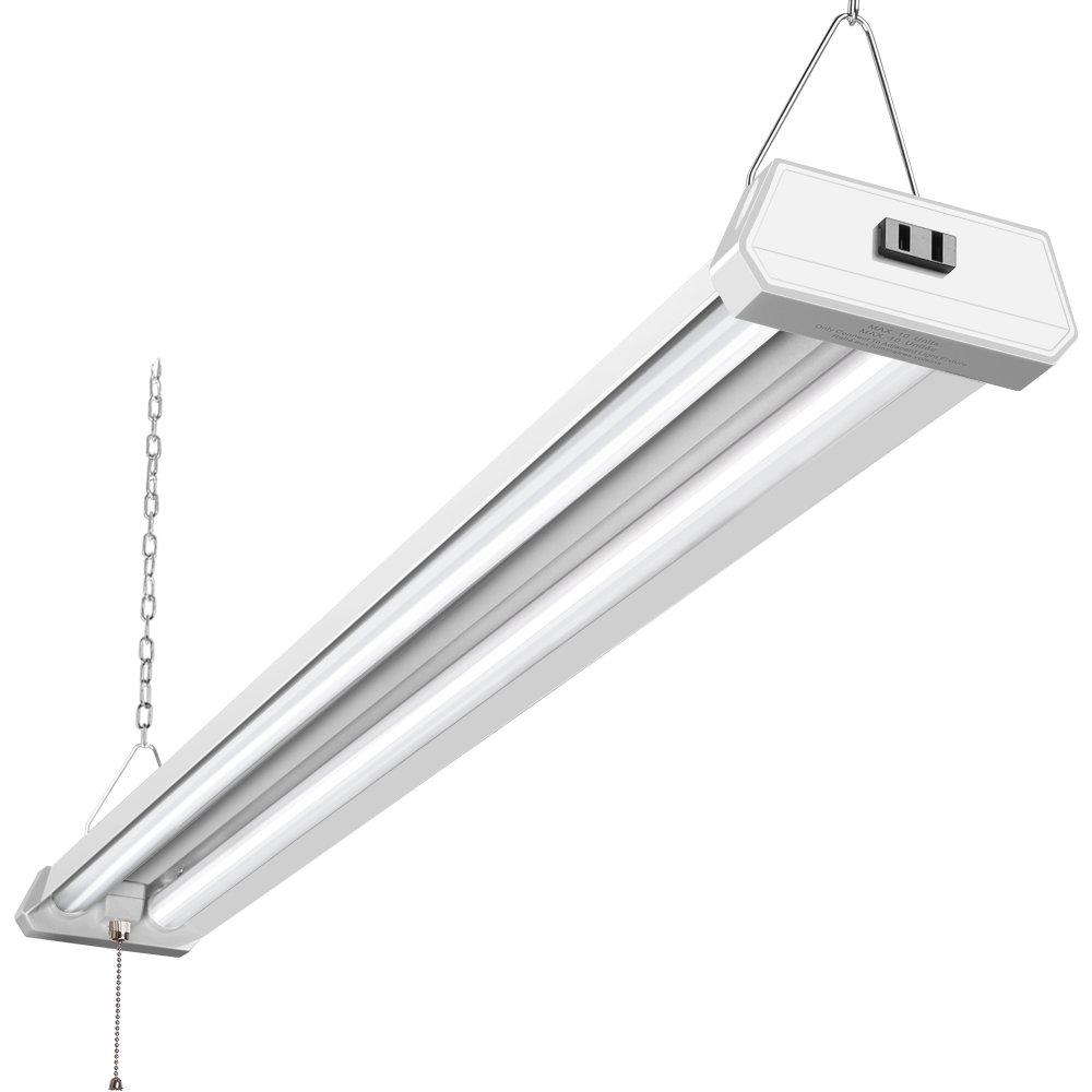 42W Linkable LED Shop Light for Garage BBOUNDER 4FT 5000K Daylight Super Bright Garage Light Surface and Hanging Mounting for Warehouse Basement Garage Workbench Recreation Room (1Pack)
