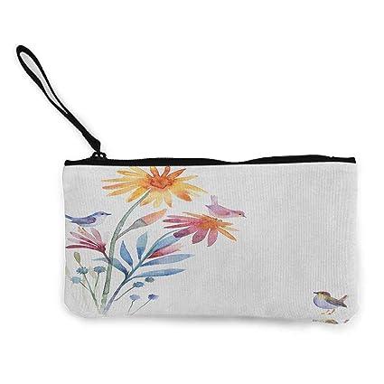 TTmom Carteras de Mujer,Monedero,Watercolor Springtime ...