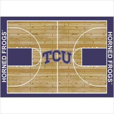 College Court TCU Horned Frogs Rug Size: 5' 4