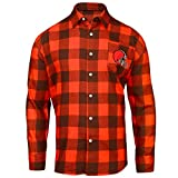 FOCO Cleveland Browns Large Check Flannel Shirt - Mens Medium