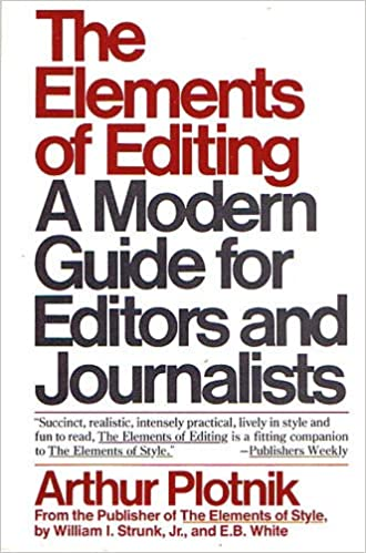 Book The Elements of Editing,a Modern Guide for Editors and Journalists, 1st, First Edition