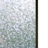 Bloss Vinyl Static Cling Cut Glass Window Decals Decorative Privacy Window Film 17.7'' x 78.7''