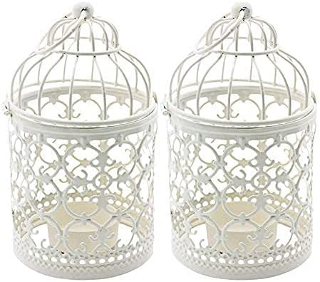hanging wire heart candle holder 11 x 9 x 6