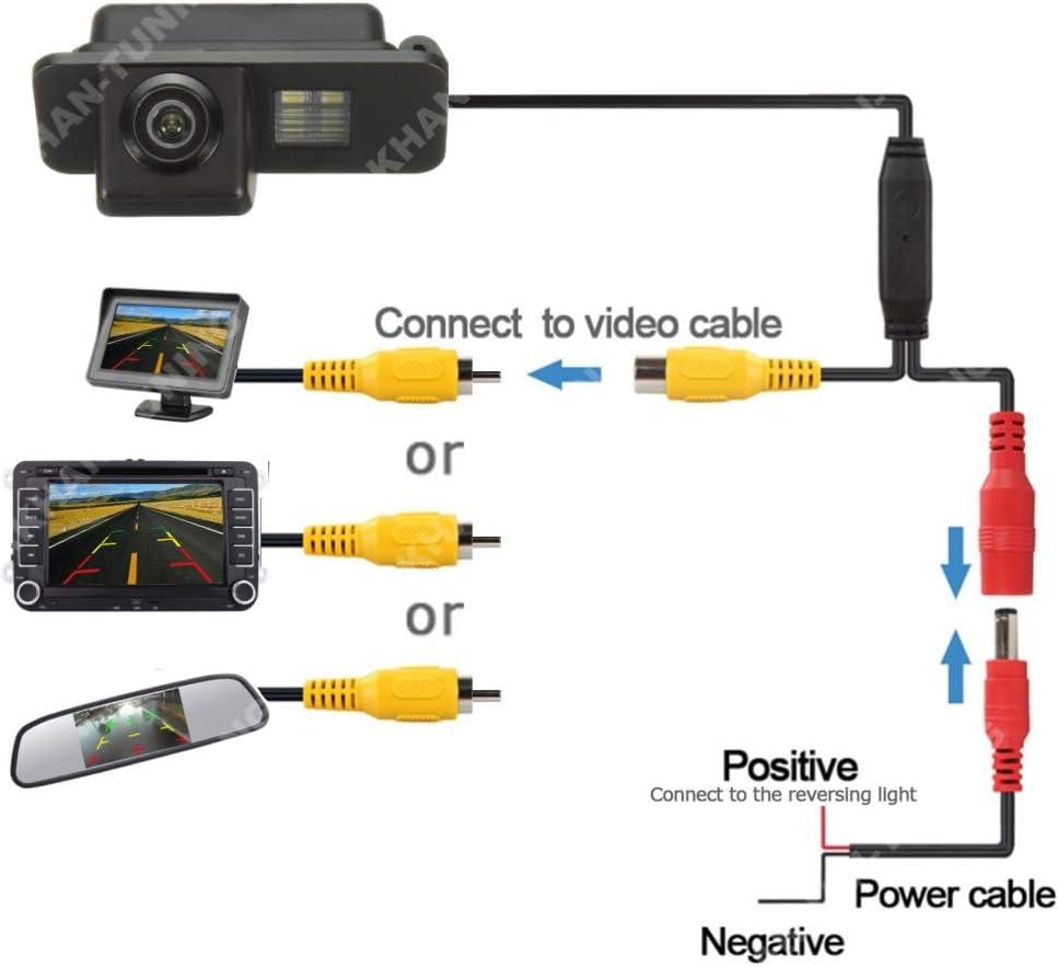 Kamera f/ür Nummerschildbeleuchtung Farb R/ückfahrkamera Akhan CAM16-3 Kennzeichenbeleuchtung Einparkhilfe