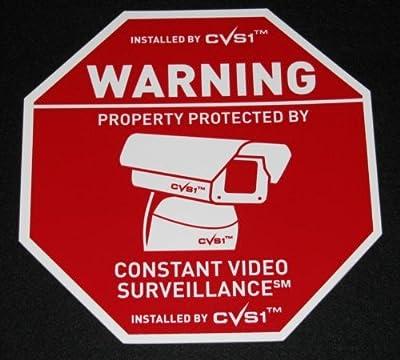4 Big Surveillance Security Spy Video Camera Signs PVC!
