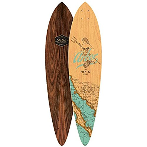 Arbor Fish 37 Longboard Deck Groundswell Series 2017 New With Grip Tape