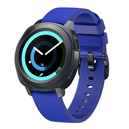 - OUFENLI Watch Band for Samsung Gear Sport,Sport Soft Silicone Wristband Quick Release Bracelet for Samsung Gear Sport (Blue)