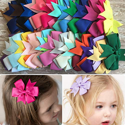 Baby Girl Hair Clips Pinwheel Alligator 40 PCS Pigtails Ponytails Hair Bows for Teens Kids Babies Toddlers Hair -