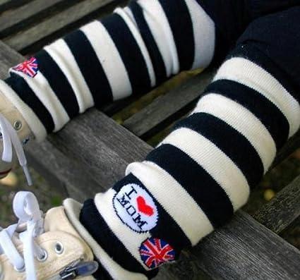 Ayygift Cute I love MOM Baby Toddler Boy Girl Leg Warmers Leggings Socks Hot!! Stripe