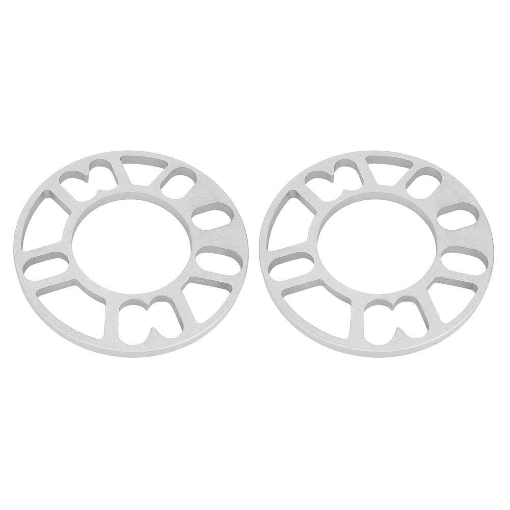 Placa de Eparadores de Rueda 2 Pcs Universal 10 mm Aleaci/ón de Aluminio Separadores de Rueda de Cubo Cu/ñas Ajuste Universal para 4//5 Rueda de Esp/árrago
