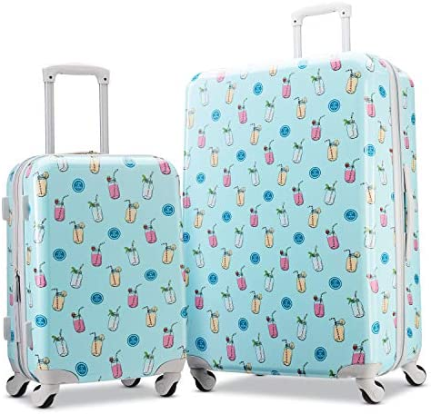 American Tourister Life is Good Hardside Luggage with Spinner Wheels, Mason, Checked-Large 28-Inch
