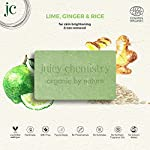 Juicy Chemistry Lime, Ginger & Rice Organic Soap For Skin Brightening & Tan Removal, 100 Gm