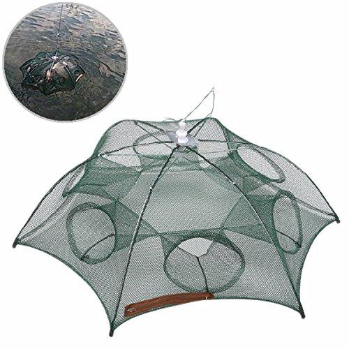 bazaar-foldable-6-holes-fishing-net-fish-shrimp-minnow-crab-baits-cast-mesh-trap-cage