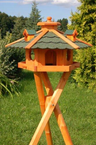 Deko Shop Hannusch Nichoir A Oiseau Sur Pieds En Bois Traite