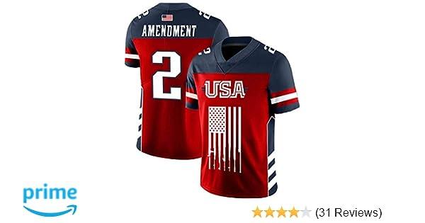 0bb2bd16452 Amazon.com  Greater Half Custom 2nd Amendment Football Jersey (Small-XXXXL)  (Small)  Clothing