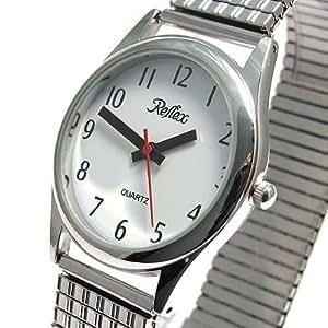 Reflex 102206lx - Reloj de mujer con correa metálica elástica, color plateado