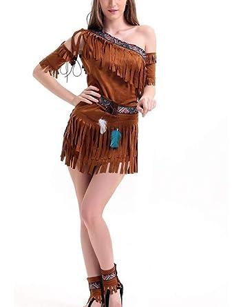 Worclub Disfraz de Indio Nativo para Mujer Disfraz de Halloween ...