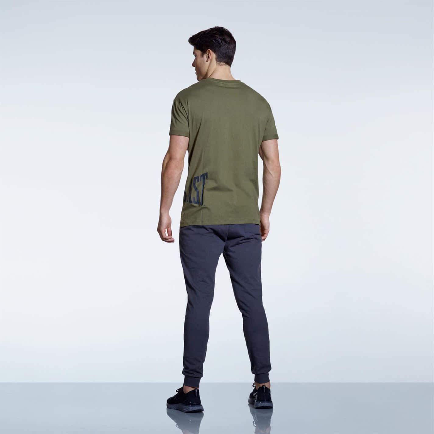 Everlast SPrnt Camisa de Cuello Redondo para Hombre Verde Caqui L ...