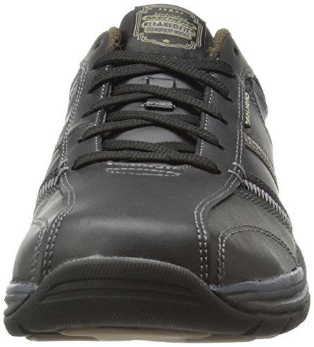 Skechers Expected Devention, Oxford Homme Schwarz (Bktn)