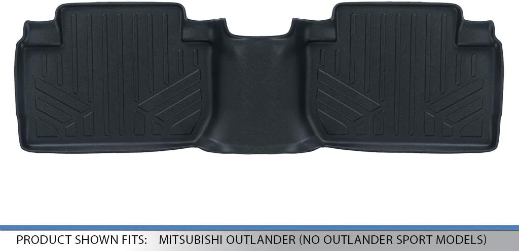 MAXLINER Floor Mats 2nd Row Liner Black for 2011-2018 Mitsubishi Outlander No Outlander Sport Models