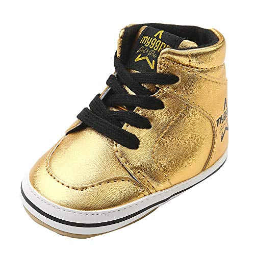 0bcd1d42d7c21 VEKDONE Baby Boys Girls Leather Toddler Sneaker Anti-Slip First Walkers