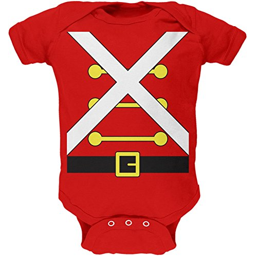 Christmas Toy Soldier Costume Red Soft Baby One Piece - 9-12 Months ()