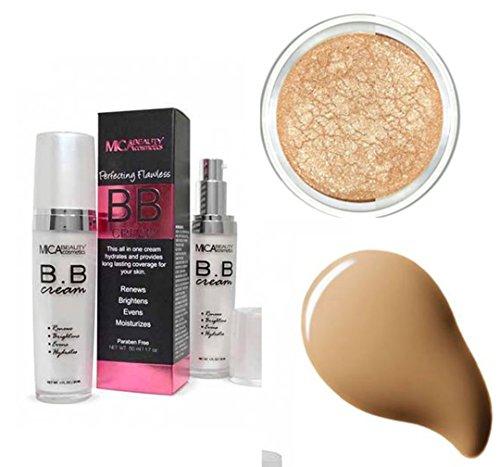 MicaBeauty BB Cream+ Itay Mineral Eye Shimmer Elegance #1 (Bundle of 2 Items) (Dark)