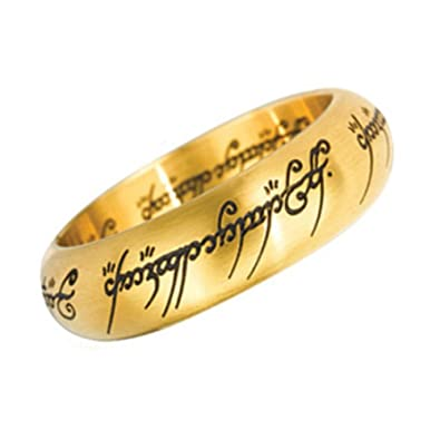 Official The One Ring - Gold Replica Ring in Display Case - Size 10 ...