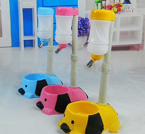 Pet Dog Puppy Drinking Feeding Hanging Water Bottle Head Lift Style Random Color Review