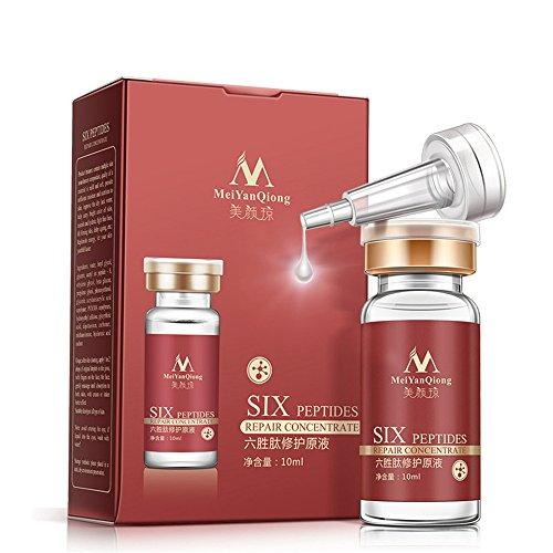(HuntGold 10ml/0.34Fl Oz Six Peptides Repair Concentrate Moisturizing Anti Wrinkle Facial Care Serum)