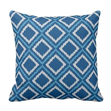 Fine Amazon Com Custom Ikat Design Blue And Gray Chic Throw Ibusinesslaw Wood Chair Design Ideas Ibusinesslaworg