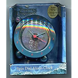 Pirates of the Caribbean * Spin Dial Alarm Clock * Two Pictures