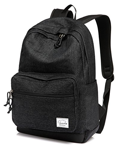Vaschy Unisex Denim School Backpack Casual Rucksack 15 inch Laptop Travel Backpack with Water Resistant Cover by Vaschy