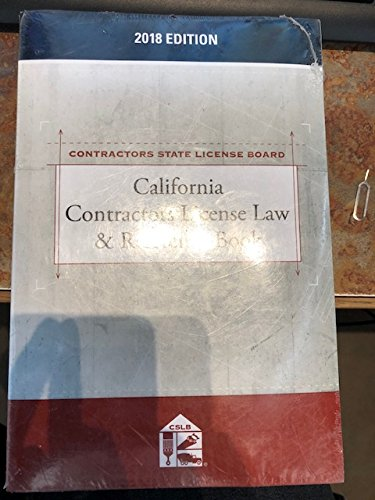 California Contractors License Law & Reference Book
