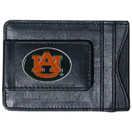 NCAA Auburn Tigers Cash and Card Holder Tigers Leather Money Clip