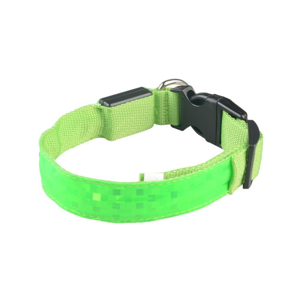 Collar ????Smdoxi Reflective LED Light Band Glow Bracelet Collar Glow In The Dark For Pet!!Yes!! (Green, S)