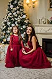 Burgundy Mommy and Me dresses Mother daughter matching tutu dresses, Strpless dresses Mom baby wedding party dress, dress with bow